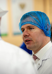 Pictured: Derek Mackay<br /> Economy Secretary Derek Mackay visited Nairn's Oatcakes in Edinburgh today to comment on the latest export and GDP statistics. Mr Mackay enjoyed a short tour of the factory where staff demonstrated the manufacturing process.<br /> Ger Harley | EEm 30 January 2019