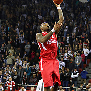 Olympiacos's Josh Powell during their Turkish Airlines Euroleague Basketball Top 16 Game 9 match Besiktas between Olympiacos Piraeus at Abdi ipekci Arena in Istanbul, Turkey, thursday, February 28, 2013. Photo by Aykut AKICI/TURKPIX