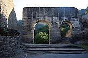 Italy, Piedmont (Piemonte) region, The ruins of Susa Roman Aqueduct