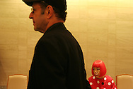 American musician Steve Reich and japanese artist Yoyoi Kusama, both Laureates of the 2006 Praemium Imperiale art awards, prior to a press conference in the Hotel Okura, Tokyo, Japan, on Tuesday, Oct. 17,  2006. The five laureates in 2006 were internationally renowned  Japanese artist Kusama Yayoi, French sculptor Christian Boltanski, German architect Frei Otto, American musician Steve Reich, and Russian dancer ballerina Maya Plisetskaya. All receive an honorarium of 15 million Yen, and a medal. The Japan Art Association is the oldest cultural foundation in Japan, established in 1887. The laureates are chosen each year by an international jury, from a list of nominees put forward by advisors. The awards are held annually in Tokyo in the presence of Prince and Princess Hitachi.