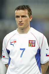 TEPLICE, CZECH REPUBLIC - Wednesday, April 30, 2003: Czech Republic's Vladimir Smicer pictured before a friendly match against Turkey at the Teplice Stadion Na Stinadlech. (Pic by David Rawcliffe/Propaganda)