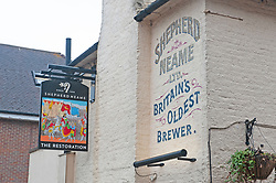 ©Licensed to London News Pictures 19/08/2020             Sevenoaks, UK. The Restoration pub with its new name and sign. The Black Boy pub in Sevenoaks, Kent which is over 400 years old has changed its name over racism fears to The Restoration. Photo credit: Grant Falvey/LNP