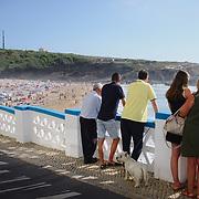 Summer day at Praia das Maçãs, one of the beaches in Sintra region.