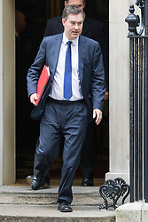 Downing Street, London, October 25th 2016. Chief Secretary to the Treasury David Gauke leaves10 Downing Street following the weekly cabinet meeting and the announcement that the construction of a third runway at Heathrow Airport has initial government approval.