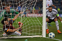 Fallo su Mohamed Salah Roma.<br /> Roma 04-11-2015 Stadio Olimpico Football Calcio Champions League Group Stage Group E 2015/2016 AS Roma - Bayer Leverkusen Foto Antonietta Baldassarre / Insidefoto