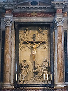 A relief of the Crucifixion of Christ in the Siena Cathedral (or Duomo).