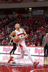 08 February 2018:  Elijah Clarance runs the floor for a run away dunk during a College mens basketball game between the Southern Illinois Salukis and Illinois State Redbirds in Redbird Arena, Normal IL