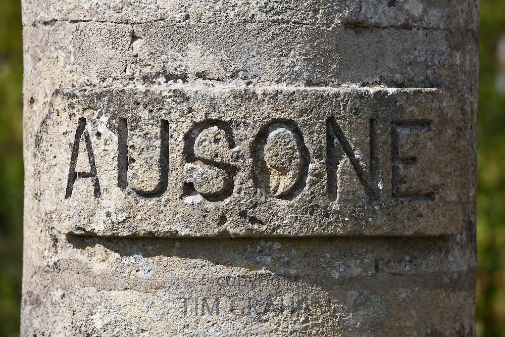 Chateau Ausone vineyard  in St Emilion in Bordeaux wine region of France