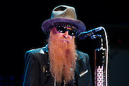 Tribune Photo/SANTIAGO FLORES Billy Gibbons of ZZ Top performs at the Morris Performing Arts Center on Wednesday night.  For a review of the performance please visit us at www.SouthBendTribune.com or see Friday's Weekend Section.