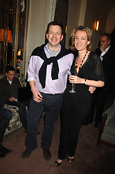 JAMES BAKER and his wife TV presenter ANASTASIA COOKE at a party to celebrate the publication of Top Tips For Girls by Kate Reardon held at Claridge's, Brook Street, London on 28th January 2008.<br />
