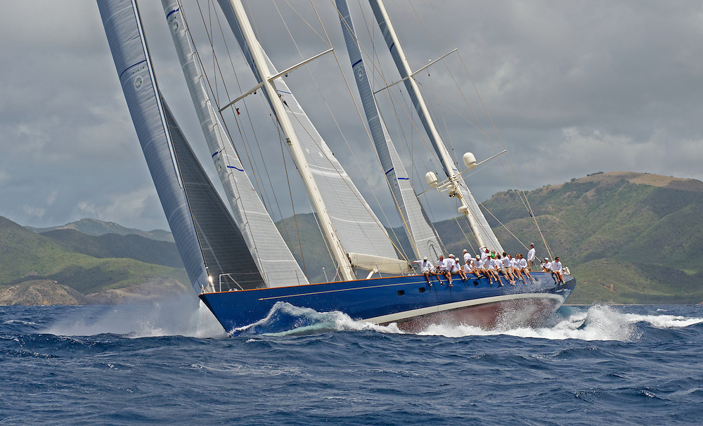 """Rainbow.<br /> <br /> Back in the 60s, classic yachts, which were gathered in English Harbour Antigua, had begun chartering and the captains and crews challenged each other to a race down to Guadeloupe and back to celebrate the end of the charter season. From this informal race, Antigua Race Week was formalised in 1967, and in those days all of the yachts were classics. As the years grew on, the classic yachts were slowly outnumbered but the faster sleeker modern racing yachts and 24 years later the Classic Class had diminished to a few boats and was abandoned in 1987. However this same year seven classic yachts turned out and were placed in Cruising Class 3 with the bare boats. The class was so unmatched that it was downright dangerous, so Captain Uli Pruesse hosted a meeting onboard Aschanti of Saba with several classic skippers and in 1988 the Antigua Classic Yacht Regatta was born, with seven boats.<br /> <br /> In 1991, Elizabeth Meyer brought her newly refitted Endeavour and Baron Edmond Rothschild brought his 6-meter Spirit of St Kitts and """"CSR"""" became the first Sponsor and inaugurated the Concours d'Elégance. In 1996 we created the """"Spirit of Tradition Class"""", which has now been accepted all over the world, which gives the """"new"""" classics, built along the lines of the old, a chance to sail alongside their sister ships. In 1999 we celebrated the first race between the J class yachts in 60 years. Mount Gay Rum has sponsored the Regatta for many years, and we have recently added Officine Panerai as our first ever Platinum Sponsor.<br /> <br /> The Antigua Classic Yacht Regatta has maintained a steady growth, hosting between 50 and 60 yachts every year and enjoys a wonderful variety of competitors, including traditional craft from the islands, classic ketches, sloops, schooners and yawls making the bulk of the fleet, together with the stunningly beautiful Spirit of Tradition yachts, J Class yachts and Tall Ships."""