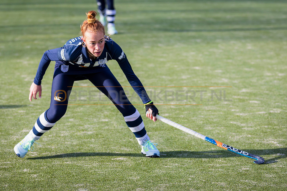 BILTHOVEN -  Hoofdklasse competitiewedstrijd dames, SCHC v hdm, seizoen 2020-2021.<br /> Foto: Pien van der Heide (hdm)