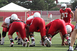 15 August 2015:  Sean Slattery prepares for a field goal attempt. Annual Red-White Scrimmage for the Illinois State Redbirds at Hancock Stadium in Normal IL