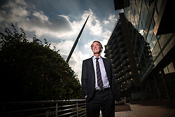© Licensed to London News Pictures . 08/09/2015 . Salford , UK . Founder and CEO of Ineos , JIM RATCLIFFE in front of the Lowry Hotel in Salford . Photo credit : Joel Goodman/LNP
