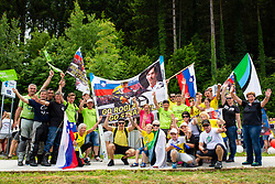 The fans of Primooz Roglic during 5th Time Trial Stage of 25th Tour de Slovenie 2018 cycling race between Trebnje and Novo mesto (25,5 km), on June 17, 2018 in  Slovenia. Photo by Matic Klansek Velej / Sportida