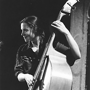 Molly Mason, bass player with Fiddle Fever 1980's