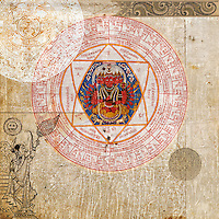 """Multi-cultural yoga symbols.<br /> <br /> :::::::::::::::::::::::::::::::::::::::::::::::::::::::::::::::::::<br /> """"In yoga, life and consciousness are known as prakriti and purusha; in tantra they are known as Shakti and Shiva. In hatha yoga they are called ida and pingala; in taoism, yin and yang, and in physics, matter and energy.""""<br /> -Swami Muktibodhananda (Hatha Yoga Pradipika pg 8)"""