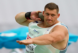 Miro Vodovnik of Slovenia competes in the Mens Shot Put Qualifying during day four of the 20th European Athletics Championships at the Olympic Stadium on July 30, 2010 in Barcelona, Spain. (Photo by Vid Ponikvar / Sportida)