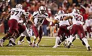 Nov 5, 2011; Fayetteville, AR, USA;  South Carolina Gamecocks quarterback Connor Shw (14) hands to ball off to tailback Brandon Wilds (22) during a game against Arkansas Razorback at Donald W. Reynolds Stadium.  Mandatory Credit: Beth Hall-US PRESSWIRE