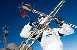 Vesna Fabjan during Training camp of Slovenian Cross country Ski team on October 23, 2012 in Dachstein Getscher, Austria. (Photo By Vid Ponikvar / Sportida)