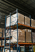 Boxes of food are piled into the rafters at Second Harvest Heartland Headquarters in Brooklyn Park, Minnesota, U.S., on Thursday, July 23, 2020. Photographer: Ben Brewer/Bloomberg