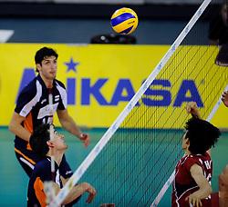 08-07-2010 VOLLEYBAL: WLV NEDERLAND - ZUID KOREA: EINDHOVEN<br /> Nederland verslaat Zuid Korea met 3-0 / Wytze Kooistra en Niels Klapwijk<br /> ©2010-WWW.FOTOHOOGENDOORN.NL