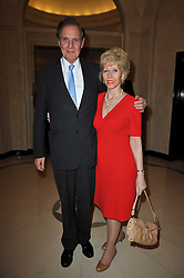 JONATHAN AITKEN and his wife ELIZABETH HARRIS at a party to celebrate the publiction of 'No Invitation Required' by Annabel Goldsmith, held at Claridge's, Brook Street, London on 11th November 2009.
