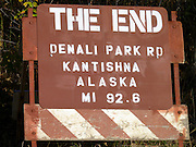 The end of the Park Road  in Denali National Park
