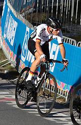 27.09.2018, Innsbruck, AUT, UCI Straßenrad WM 2018, Straßenrennen, Junioren, von Kufstein nach Innsbruck (138,4 km), im Bild Marius Mayrhofer (GER, 2. Platz Silbermedaille // Marius Mayrhofer silver medalist of Germany during the road race of the Junior Men from Kufstein to Innsbruck (138,4 km) of the UCI Road World Championships 2018. Innsbruck, Austria on 2018/09/27. EXPA Pictures © 2018, PhotoCredit: EXPA/ Reinhard Eisenbauer