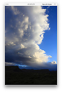 A storm cloud in the early morning over southern Utah, USA