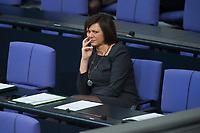 22 FEB 2013, BERLIN/GERMANY:<br /> Ilse Aigner, CSU, Verbraucherschutzministerin, waehrend der Bundestagsdebatte zum Verbraucherschutz, Plenum, Deutscher Bundestag<br /> IMAGE: 20130222-01-023