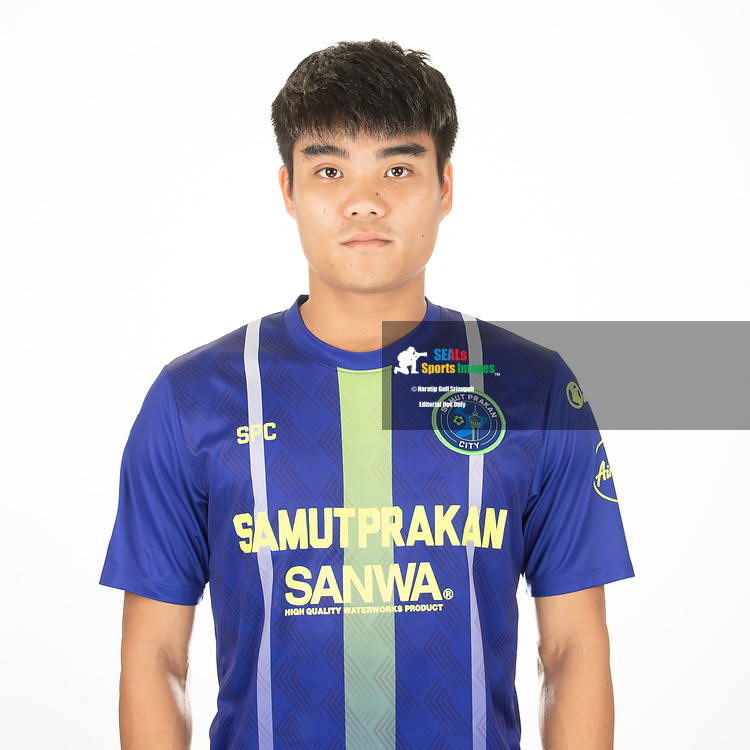 THAILAND - APRIL 09: Peeradol Chamrasamee #8 of Samut Prakan City FC on April 09, 2019.<br /> .<br /> .<br /> .<br /> (Photo by: Naratip Golf Srisupab/SEALs Sports Images/MB Media Solutions)