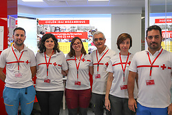 March 23, 2019 - Madrid, Spain - The Red Cross team that will go to Mozambique with humanitarian aid to Mozambique pose in Madrid, Spain, on 23 March 2019. (Credit Image: © Jesus Hellin/NurPhoto via ZUMA Press)