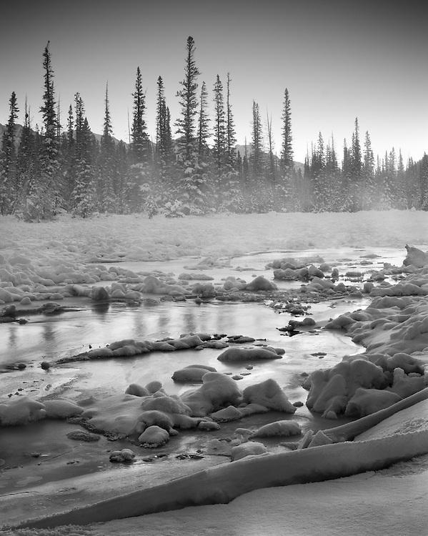 Castle Junction in Winter, Banff National Park, AB