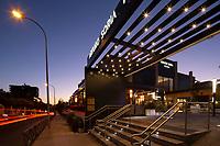 04/Septiembre/2020 Madrid.<br /> Centro comercial Arturo Soria Plaza iluminado por AOM.<br /> <br /> ©JOAN COSTA