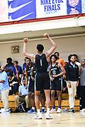 NORTH AUGUSTA, SC. July 10, 2019. Scottie Barnes  2020 #1 of Nightrydas Elite 17U at Nike Peach Jam in North Augusta, SC. <br /> NOTE TO USER: Mandatory Copyright Notice: Photo by Alex Woodhouse / Jon Lopez Creative / Nike