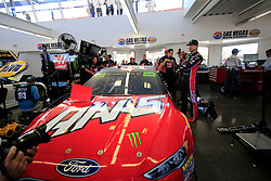 September 14, 2018 - Las Vegas, NV, U.S. - LAS VEGAS, NV - SEPTEMBER 14: Kurt Busch (41) Monster Energy Stewart-Haas Racing Ford Fusion with his car and crew in the Neon Garage during practice for the South Point 400 Monster Energy NASCAR Cup Series Playoff Race on September 14, 2018 at Las Vegas Motor Speedway in Las Vegas, NV. (Photo by David Griffin/Icon Sportswire) (Credit Image: © David Griffin/Icon SMI via ZUMA Press)