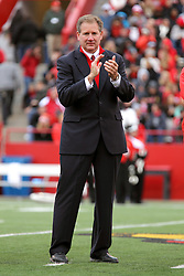 04 October 2014: ISU Athletic Director Larry Lyons during an NCAA FCS Missouri Valley Football Conference game between the South Dakota State Jackrabbits and the Illinois State University Redbirds at Hancock Stadium in Normal Illinois