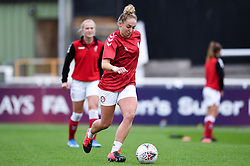 Aimee Palmer of Bristol City Women warms up prior to kick off - Mandatory by-line: Ryan Hiscott/JMP - 18/10/2020 - FOOTBALL - Twerton Park - Bath, England - Bristol City Women v Birmingham City Women - Barclays FA Women's Super League