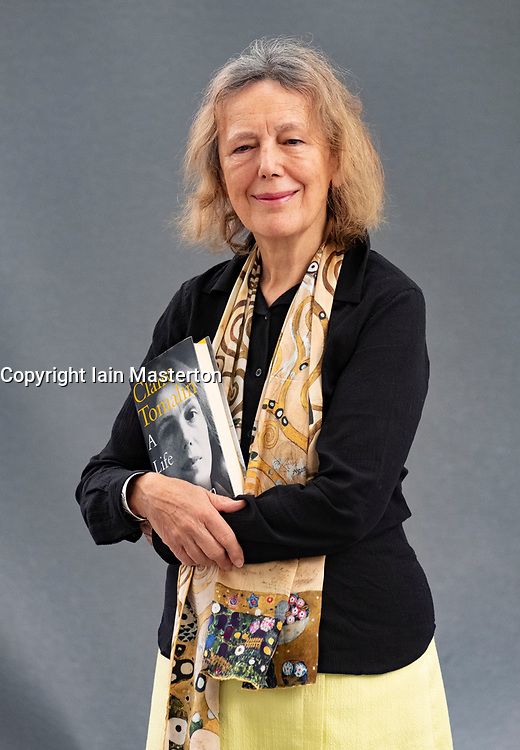 """Edinburgh, Scotland, UK. 27 August, 2018. Pictured; Claire Tomalin is an English author and journalist, known for her biographies on Charles Dickens, Thomas Hardy, Samuel Pepys, Jane Austen, and Mary Wollstonecraft. The former Sunday Times literary editor has turned the spotlight on herself to produce """"A Life of My Own"""", a moving memoir of love and loss that also offers great insight into the world of literature."""