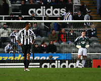 Photo: Andrew Unwin.<br /> Newcastle United v Birmingham City. The FA Cup. 17/01/2007.<br /> Newcastle's Nolberto Solano (L) looks dejected as his team concede a second goal.