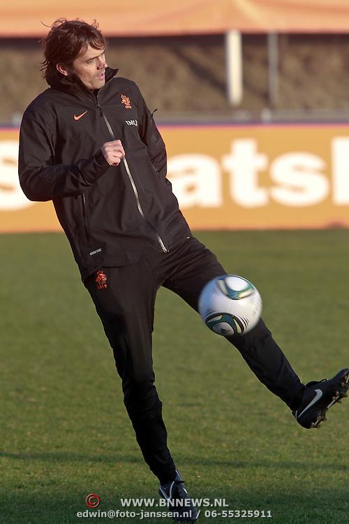 NLD/Katwijk/20110321 - Training Nederlandse Elftal Hongarije - NLD, Philip Cocu