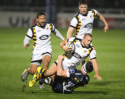 Tom Cruse of Wasps (C) in action - Mandatory by-line: Jack Phillips/JMP - 04/11/2016 - RUGBY - AJ Bell Stadium - Sale, England - Sale Sharks v Wasps - The Anglo-Welsh Cup