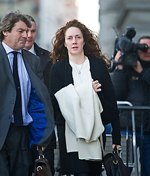 © London News Pictures. 13/11/2013. London, UK. Former Chief Executive Officer of News International REBEKAH BROOKS arriving at The Old Bailey in London where she is currently facing trial over allegations of  phone hacking and and payments to officials at News International. Photo credit: Ben Cawthra/LNP