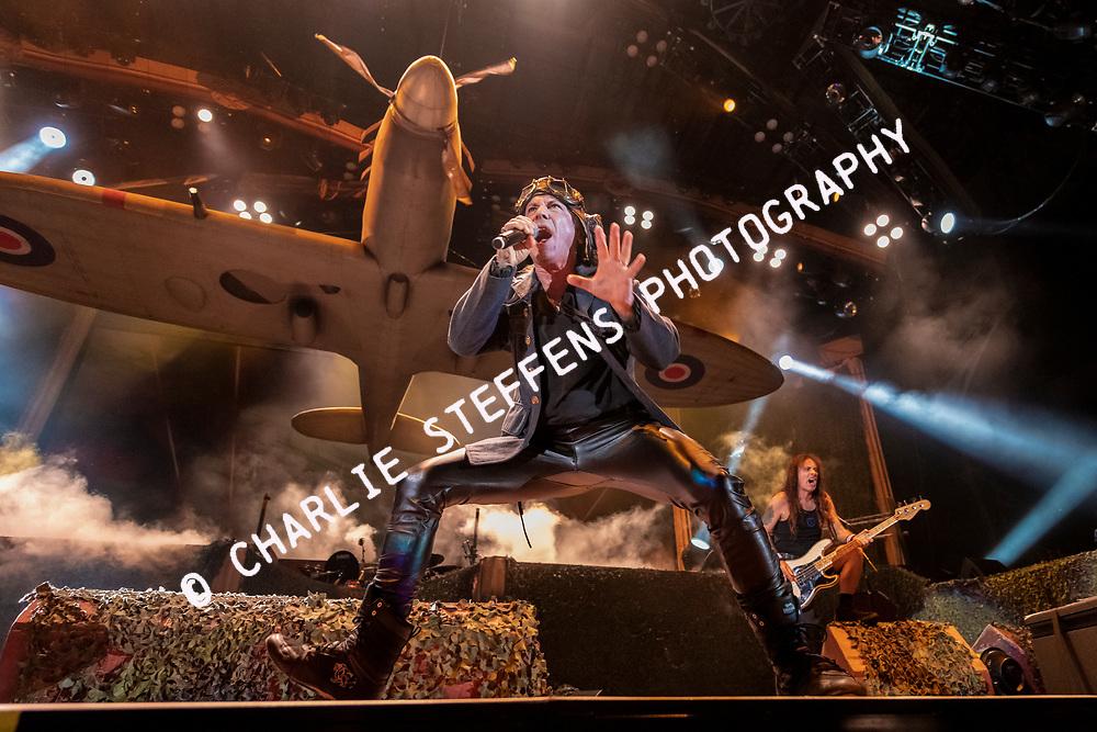 Bruce Dickinson of Iron Maiden at Banc of California Stadium on September 14, 2019 in Los Angeles, California.