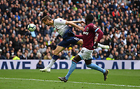 Football - 2018 / 2019 Premier League - Tottenham Hotspur vs. West Ham United<br /> <br /> Tottenham Hotspur's Fernando Llorente fails to get onto the end of a cross, at The Tottenham Hotspur Stadium.<br /> <br /> COLORSPORT/ASHLEY WESTERN