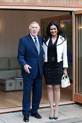 © Licensed to London News Pictures. 21/05/2012. London, England. Sir Bruce Forsythe with his wife Lady Wilnelia. RHS Celsea Flower Show 2012 - Press Day. Photo credit: Bettina Strenske/LNP