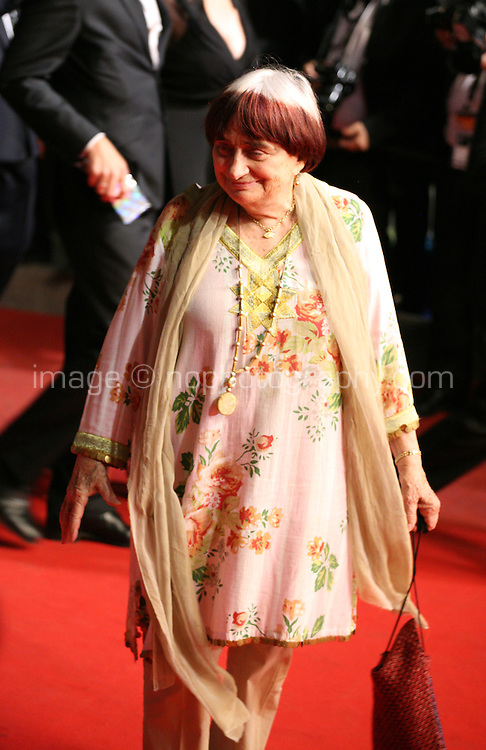 Agnès Varda at the Holy Motors gala screening, red carpet at the 65th Cannes Film Festival France. Wednesday 23rd May 2012 in Cannes Film Festival, France.