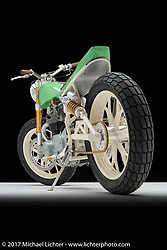"""""""Mint Condition"""", built from a Yamaha XS650 by Paul Miller of PanicRev Cycles in Calgary, Alberta. Photographed by Michael Lichter in Sturgis, SD on August 2 2017. ©2017 Michael Lichter."""