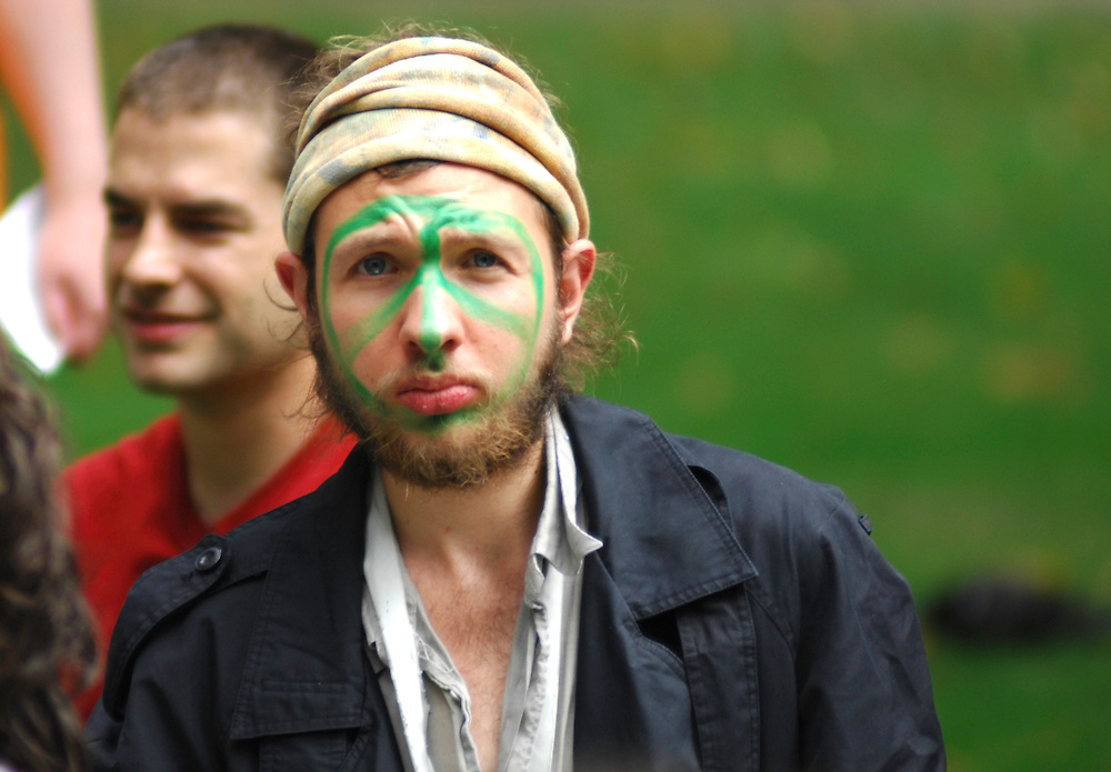Climate Camp protester, London 2009